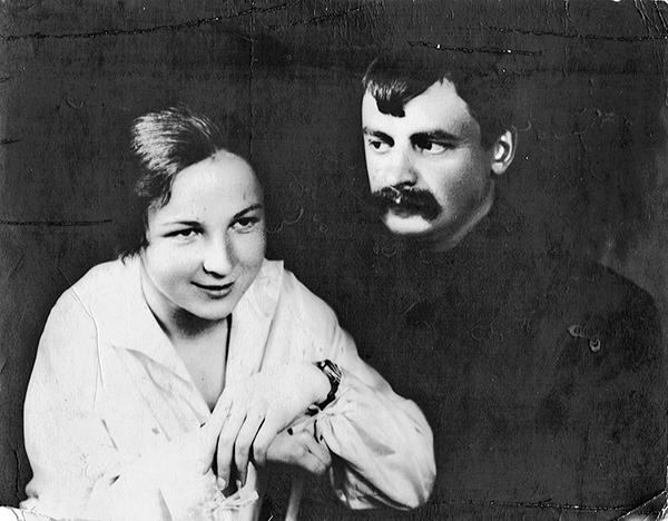 Elena y Nikolai en el día de su boda