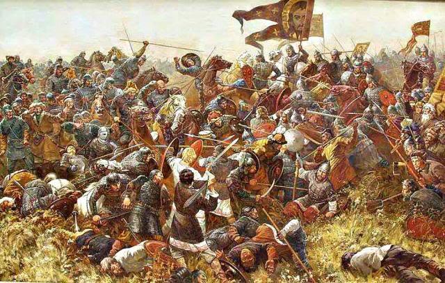 La batalla de Kulikovo Sergei Nikolevich Prisekin