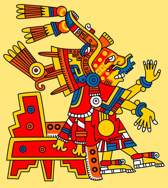 La diosa Xochiquetzal según su representación por los aztecas